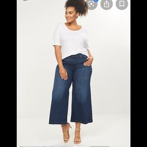 Lane Bryant 20 wide leg crop jeans NWT $80